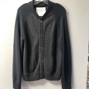 Abercrombie & Fitch Snap Cardigan Sweater Jacket M